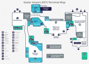 Terminal Map Exeter Airport