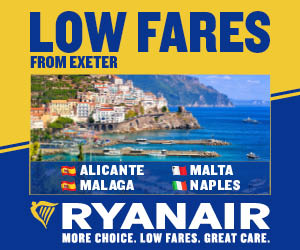Ryanair Flights from Exeter