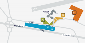 Airport Parking Map Exeter Airport